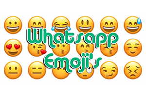 Whatsapp makes unique emojis to compete Apple and Samsung