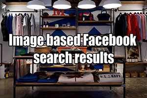 Image based Facebook search results