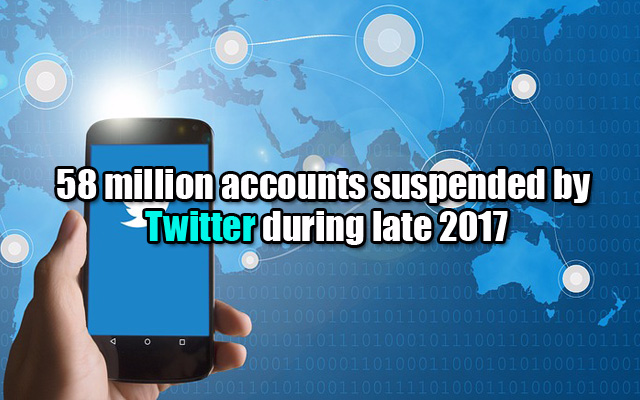 58 million accounts suspended by Twitter during late 2017
